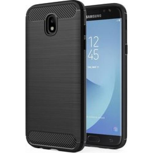 Θήκη OEM Brushed Carbon Flexible Cover TPU Case for Samsung Galaxy J5 2017 J530 μαύρου χρώματος