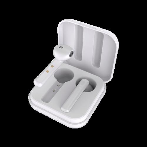 Ασύρματα ακουστικά LEDWOOD + Θήκη φόρτισης LD-M1011-TWS Λευκά(3700789508038)