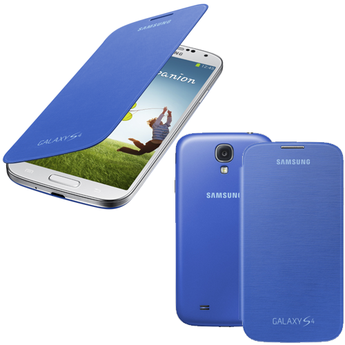 Θήκη Samsung Flip Cover για Samsung Galaxy S4 I9500 in Light Blue EF-FI950BCEG Original