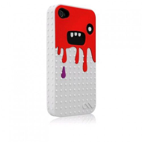 Case-mate Monsta case for iPhone 4 / 4S (White / Red)