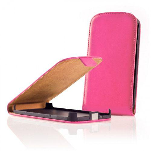 Θήκη Flip για Nokia Lumia 610 σε ρόζ χρώμα.