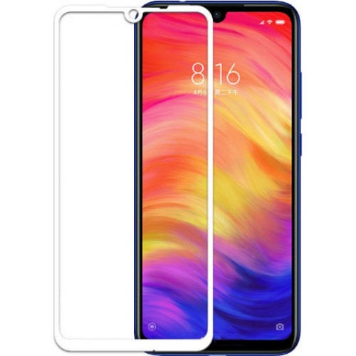 Full Face Tempered Glass 9H Xiaomi Redmi Note 7 with full glue white