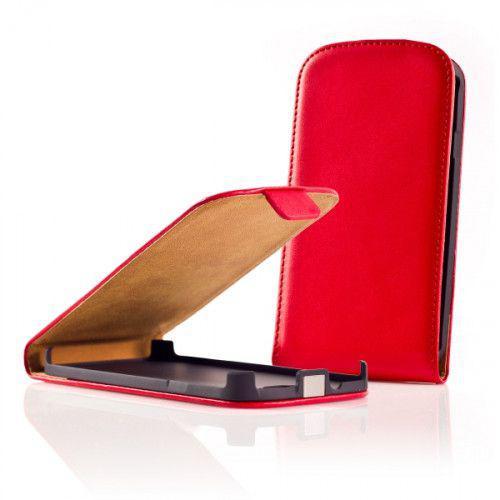 Θήκη FLIP ΓΙΑ ΤΟ κινητό HTC ONE M7 σε κόκκινο χρώμα