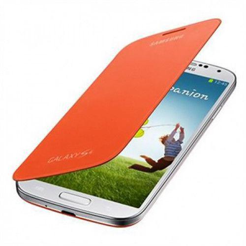 Θήκη Samsung Flip Cover για Samsung Galaxy S4 i9500 in Orange EF-FI950BOEG Original