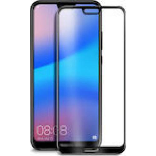 Φιλμ Προστασίας Οθόνης Tempered Glass (άθραυστο ) 9H για Huawei P20 Lite full face black