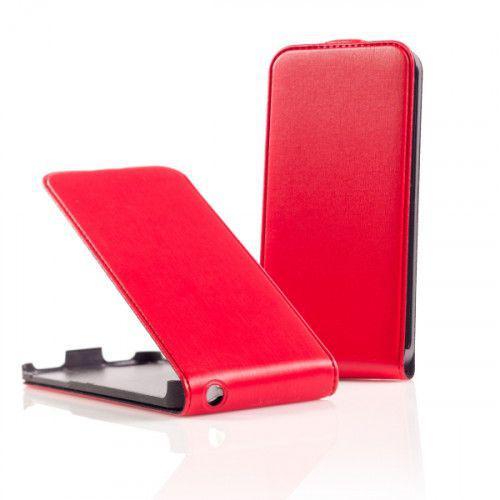Θήκη Flip για Sony Xperia J ST26i κόκκινη