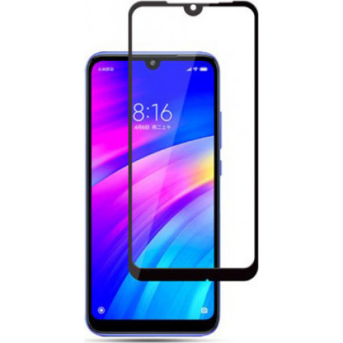 Full Face Tempered Glass 9H Xiaomi Redmi 7 with full glue black