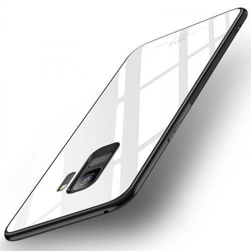 Θήκη MSVII Tempered Glass Case Durable Cover with Tempered Glass Back για Samsung Galaxy S9 G960 white