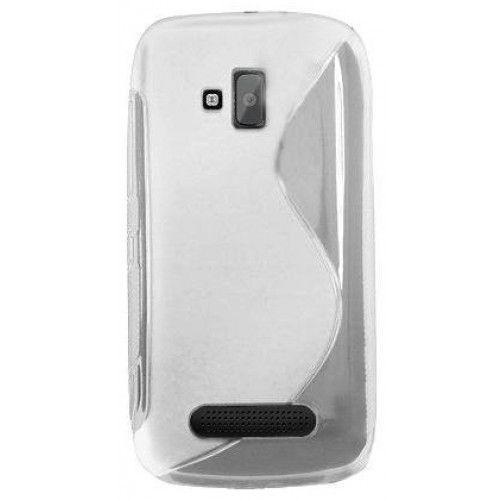 Θήκη Σιλικόνης για Nokia Lumia 610 διάφανη