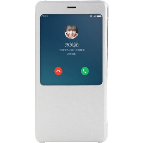 Xiaomi NYE5436TY Original S View Case Xiaomi Redmi Note 4 silver