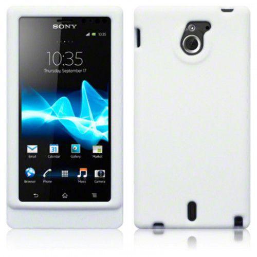 Θήκη Σιλικόνης για Sony Xperia Sola MT27i White
