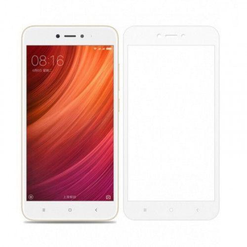 Φιλμ Προστασίας Οθόνης Tempered Glass (άθραυστο ) 9H για Xiaomi Redmi 5A full face white