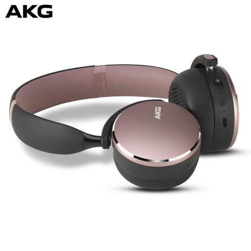 AKG Y500 On-Ear Foldable Wireless Bluetooth Headphones pink