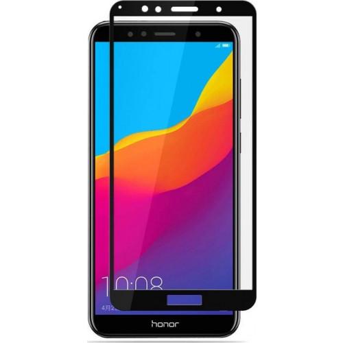 Φιλμ Προστασίας Οθόνης Tempered Glass (άθραυστο ) 9H για Huawei Y6 2018/ Y6 Prime 2018  full face black