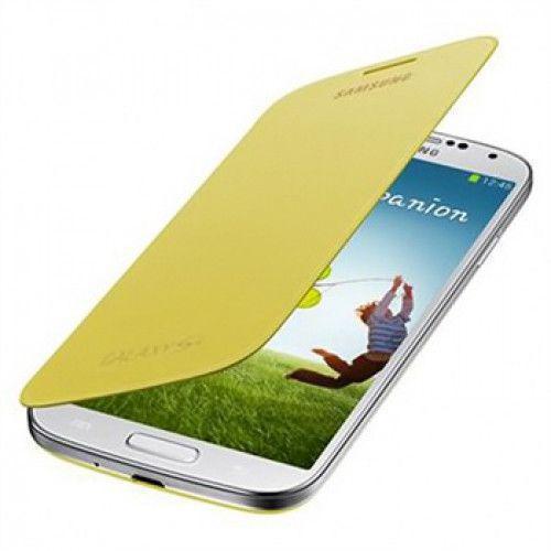 Θήκη Samsung Flip Cover για Samsung Galaxy S4 i9500 in Yellow  EF-FI950BYEG Original