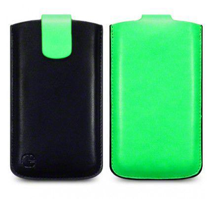 Θήκη Universal Phone Leather Pouch Case Green by Warp size XL για I9500 Galaxy S4, Xperia S ,Lumia 920