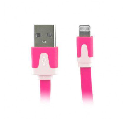 Καλώδια μεταφοράς δεδομένων (Data Cable) για iPhone 5 σκούρο ρόζ χρώμα.