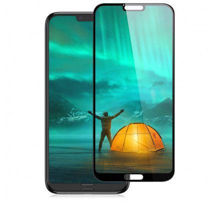 Tempered Glass Screen Protector Πλήρους Κάλυψης - Full Face για Huawei Honor 10 black ( glue on all glass )