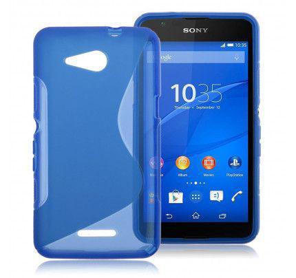 Θήκη TPU S-line για Sony Xperia E4G blue