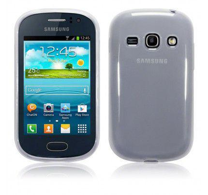 Θήκη TPU Gel για Samsung Galaxy Fame S6810 Clear+Φιλμ Προστασίας Οθόνης