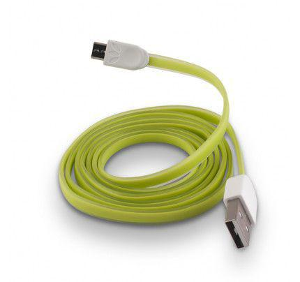 USB Cable Silicone micro usb green
