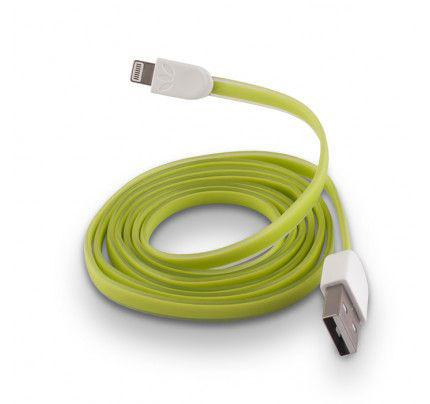 USB Cable Silicone white για iPhone 5 / 5s / 6 green