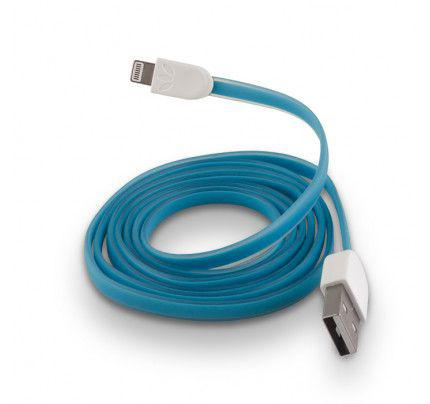 USB Cable Silicone για iPhone 5 / 5s / 6 blue