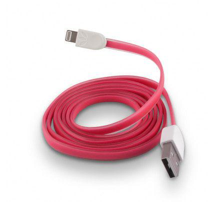 USB Cable Silicone για iPhone 5 / 5s / 6 pink
