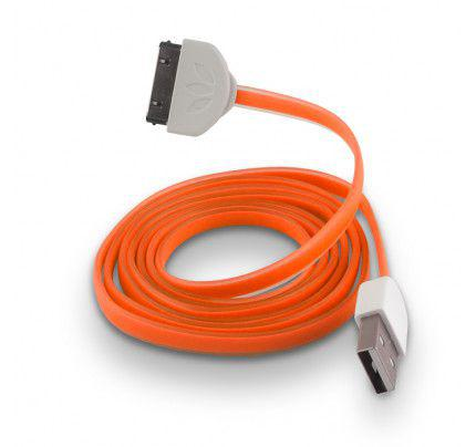 USB Cable Silicone orange για iPhone 3G / 3GS / 4 /4S