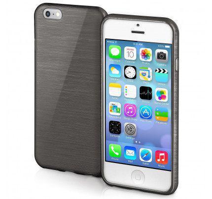 Θήκη Jelly Brush TPU για iPhone 5/ 5s /SE μαύρου χρώματος