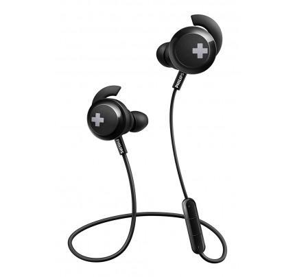 Philips SHB4305BK Bass+ Bluetooth Earphones, Wireless with Mic, Deep Bass, Ideal for Sport - Black