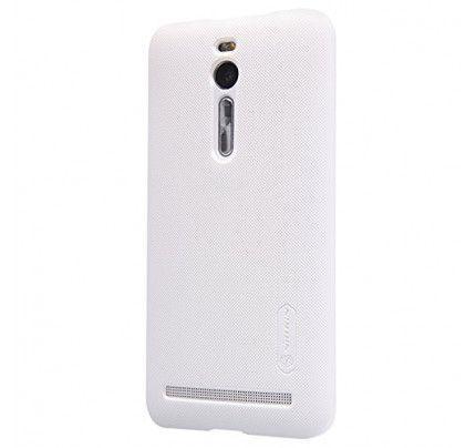 Θήκη Nillkin Super Frosted Shield για Asus Zenfone 2 ZE500CL white + Φιλμ Προστασίας Οθόνης