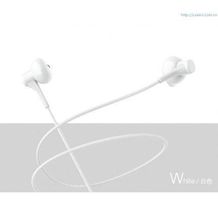 USAMS EP-17 High Fidelity In-Ear Stereo Headset 3,5mm White ( συμβατά με όλα τα smartphones )