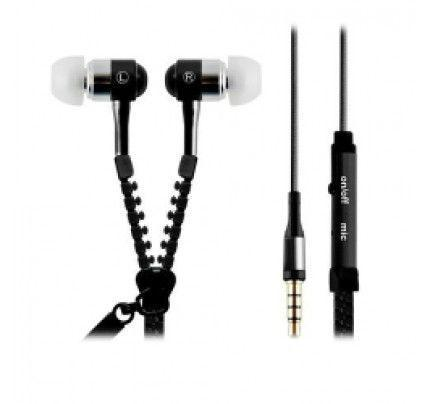 Headset Unidigital Zipper style with MIC Black