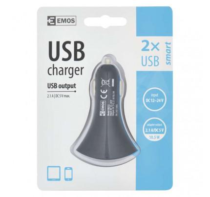 EMOS Universal USB Car Charger 2,1A (10,5W) 2x usb