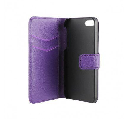 Θήκη Xqisit Wallet Case για iPhone 5S purple