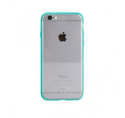 Θήκη Xqisit iPlate Odet για iPhone 6/6S διάφανη-turquoise