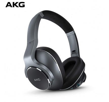 AKG N700NC Over-Ear Foldable Wireless Headphones, Active Noise Cancelling Headphones Silver