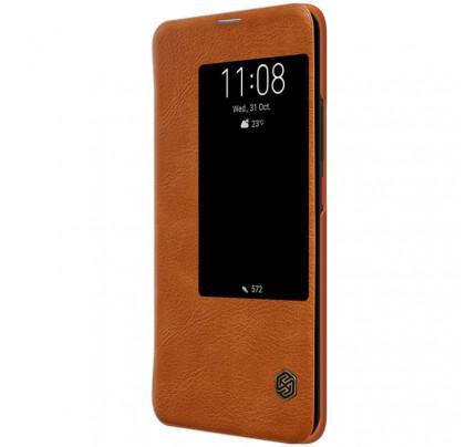Θήκη Nillkin Qin S View Book για Huawei Mate 20 Pro καφέ χρώματος