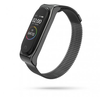 TECH-PROTECT Milanese Stainless Steel Watch Strap Xiaomi Mi Band 3 / 4 Black