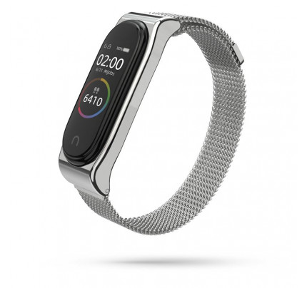TECH-PROTECT Milanese Stainless Steel Watch Strap Xiaomi Mi Band 3 / 4 Silver