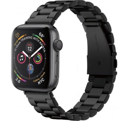 Spigen Modern Fit Λουράκι Μεταλλικό Μαύρο για Apple Watch 42 / Apple Watch 44mm 062MP25403
