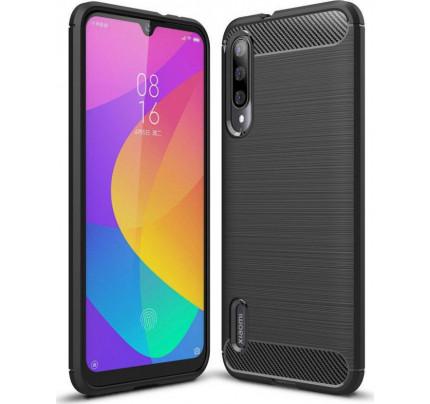 Θήκη Carbon Case Flexible Cover TPU for Xiaomi Mi A3 / Xiaomi Mi CC9E black