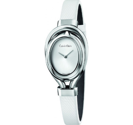 Calvin Klein White Satin Strap K5H231K6