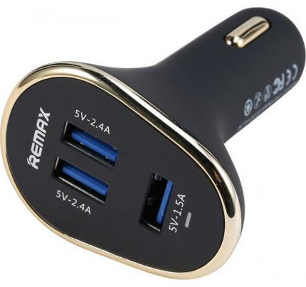 Φορτιστής αυτοκινήτου Remax RCC302 6.3A 3X USB μαύρου χρώματος