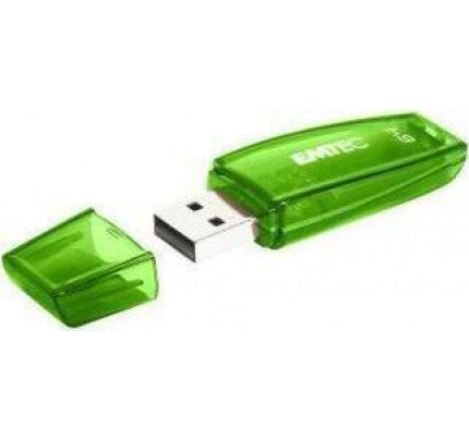 Usb Flash Drive EMTEC USB 2.0 C410 64GB Green ECMMD64GC410