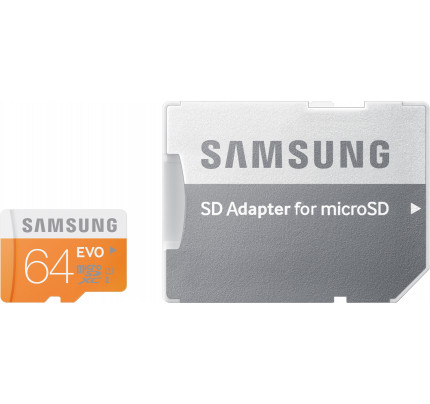 Samsung Evo microSDXC 64GB U1 with Adapter MB-MP64DA/EU