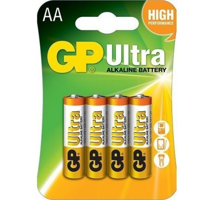 Αλκαλικές Μπαταρίες GP Ultra AA 1.5V (4 Τεμάχια) GP15AU-2U4
