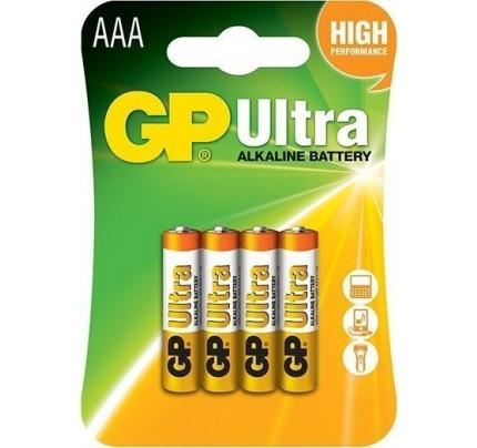 Αλκαλικές Μπαταρίες GP Ultra AAA 1.5V (4 Τεμάχια) GP24AU-2U4