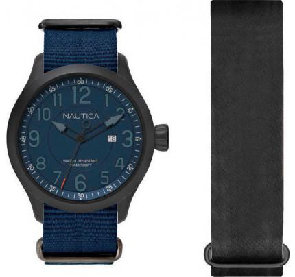 Nautica Watch NAI14519G ( + δώρο λουράκι μαύρου χρώματος )